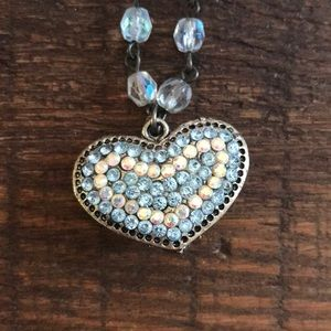 Reversible  heart necklace
